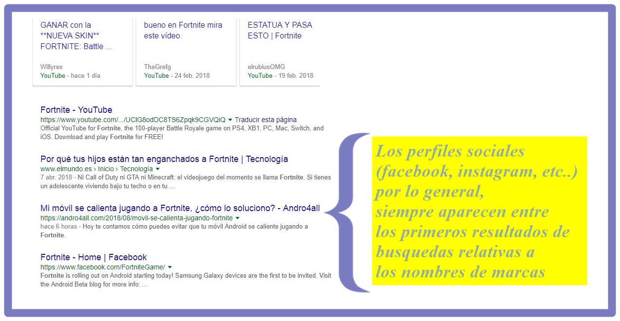 Captura fornite busqueda blog jean henriquez youtube marketing